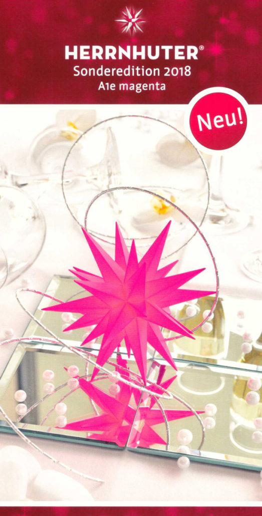 Flyer - Herrnhuter Stern A1e - magenta - Edition 2018